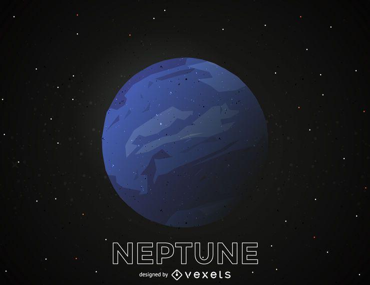 Neptune planet illustration