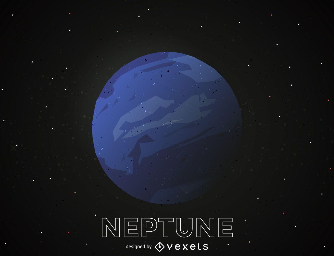 Ilustración del planeta Neptuno