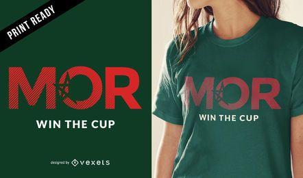 Projeto do t-shirt do copo de mundo de Marrocos