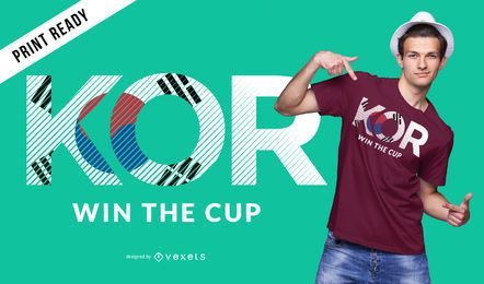 Diseño de camiseta de copa mundial de corea