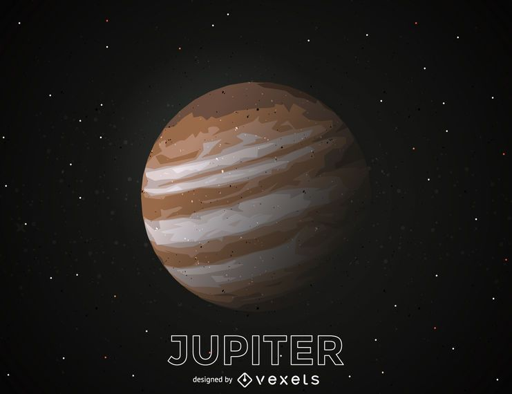 Ilustración de recorte de planeta Júpiter