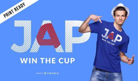 Projeto do t-shirt do copo de mundo de Japão