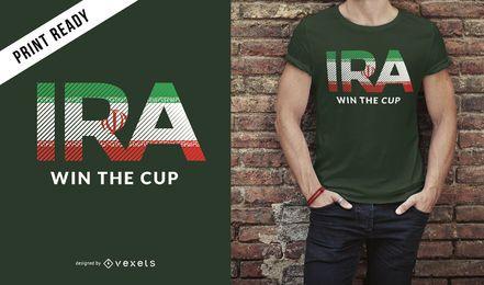 Projeto do t-shirt do copo de mundo de Irã