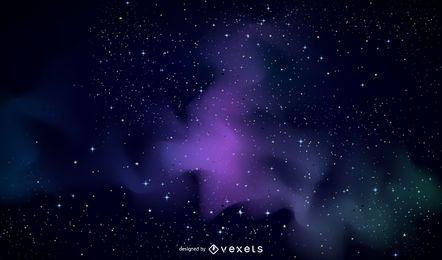 Fundo violeta galáxia