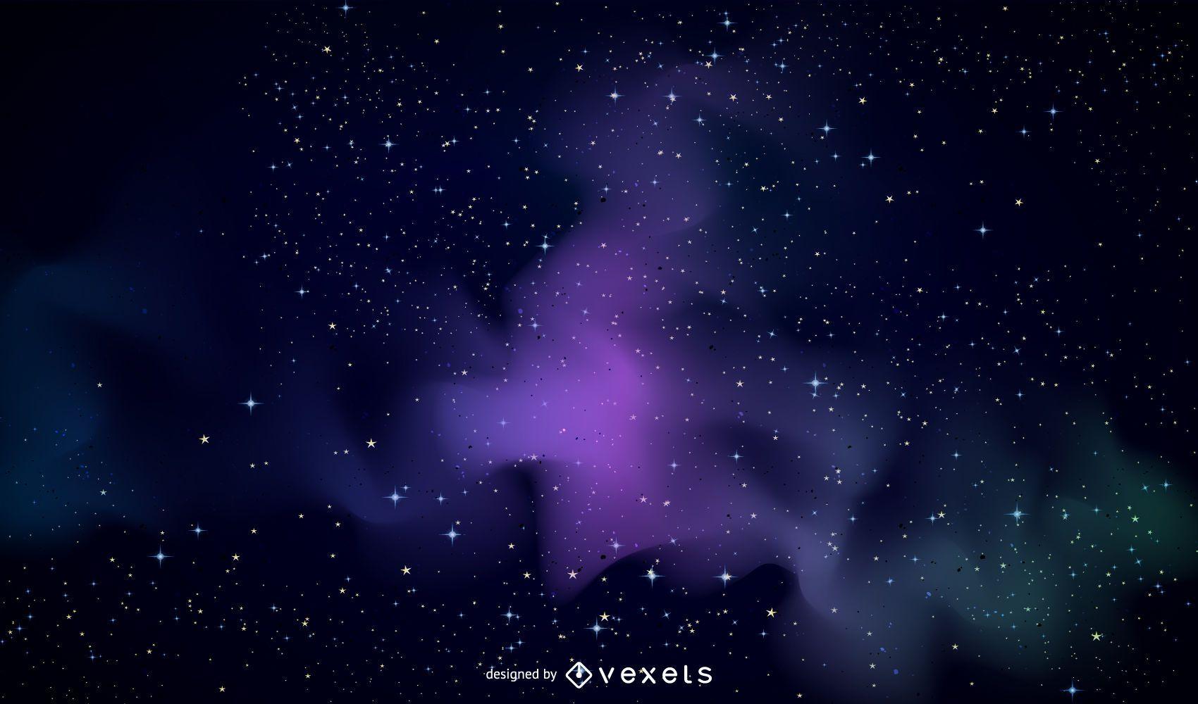 Fondo de galaxia violeta