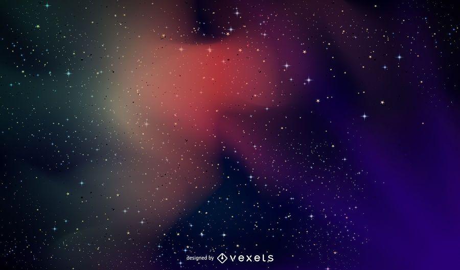 Fondo colorido galaxia espacial