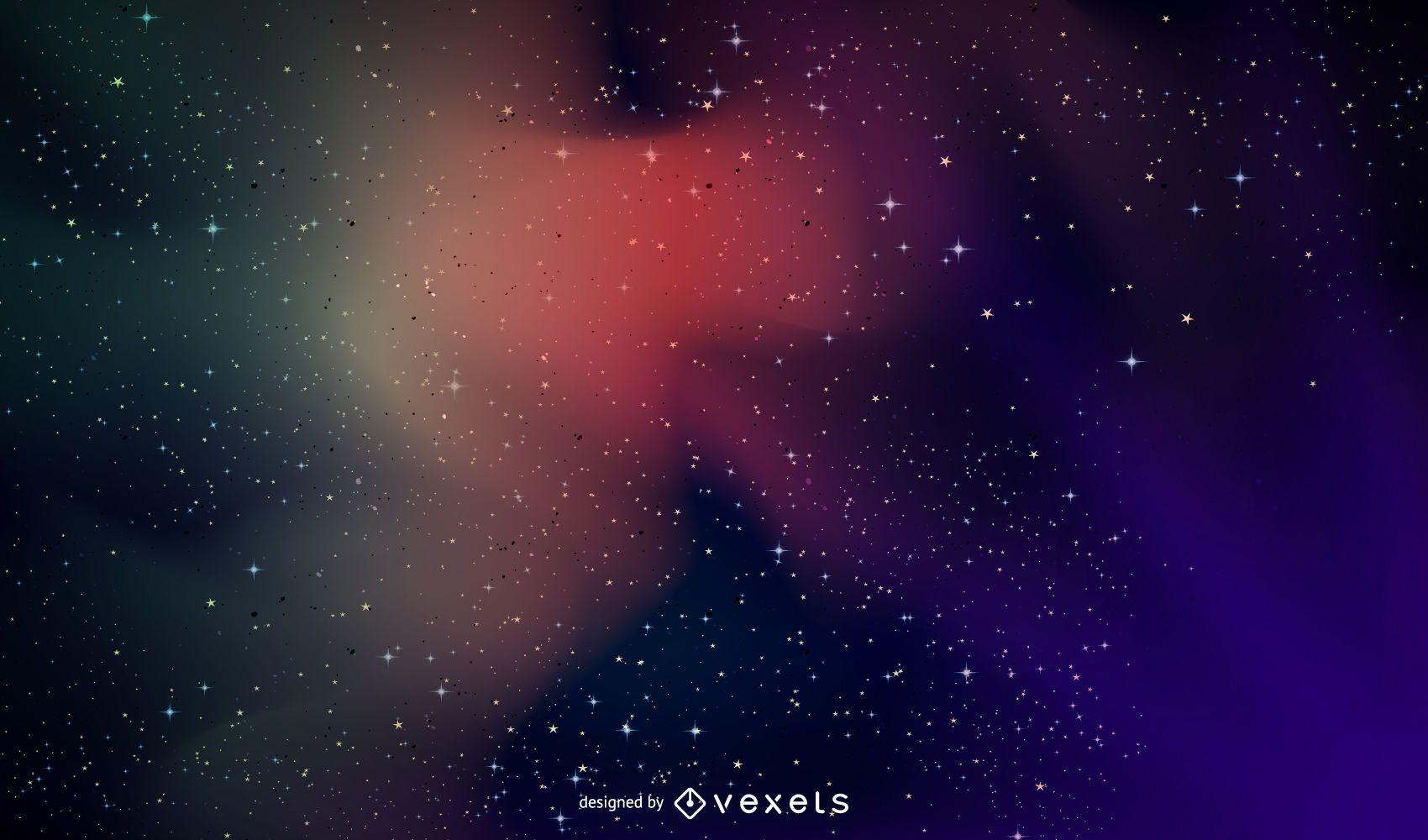 Fundo colorido da galáxia do espaço