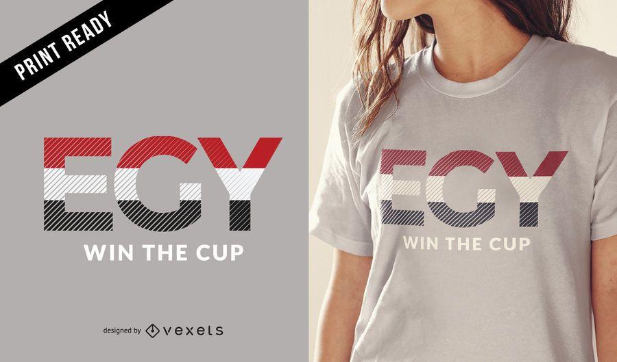 Diseño de camiseta de la copa mundial de Egipto.