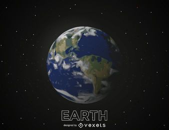 Erdplanetenillustration