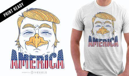 Diseño de camiseta de Eagle Trump.