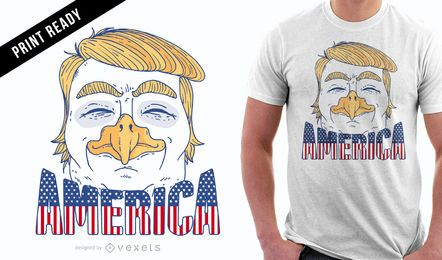 Eagle Trump T-Shirt Design