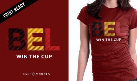 Diseño de camiseta de la Copa del Mundo de Bélgica.