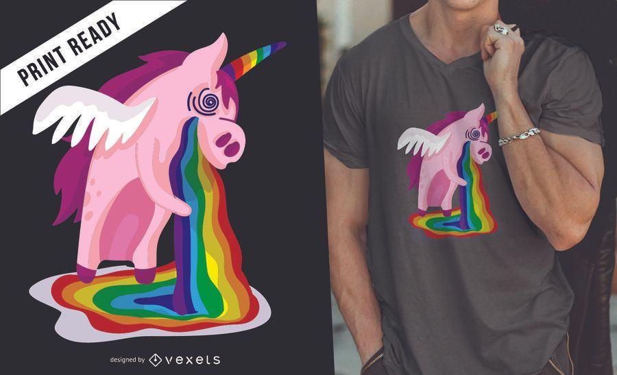 Unicorn rainbow t-shirt desing
