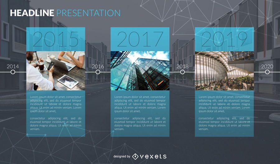 Slide de apresentação do relatório anual