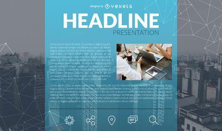Plantilla de diapositiva de presentación de negocios