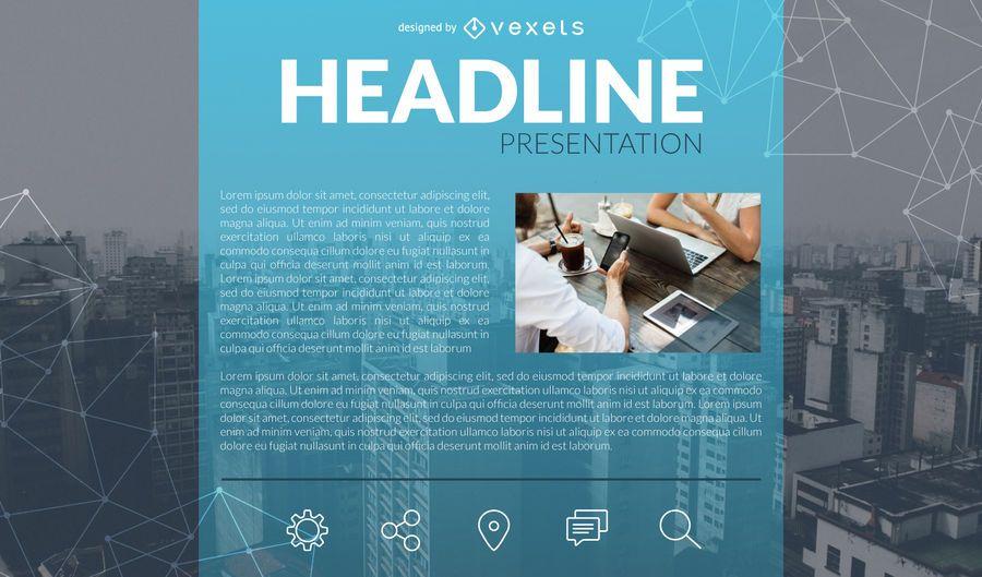 Modelo de slide de apresentação de negócios