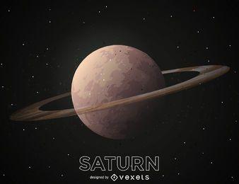 Ilustración de planeta Saturno