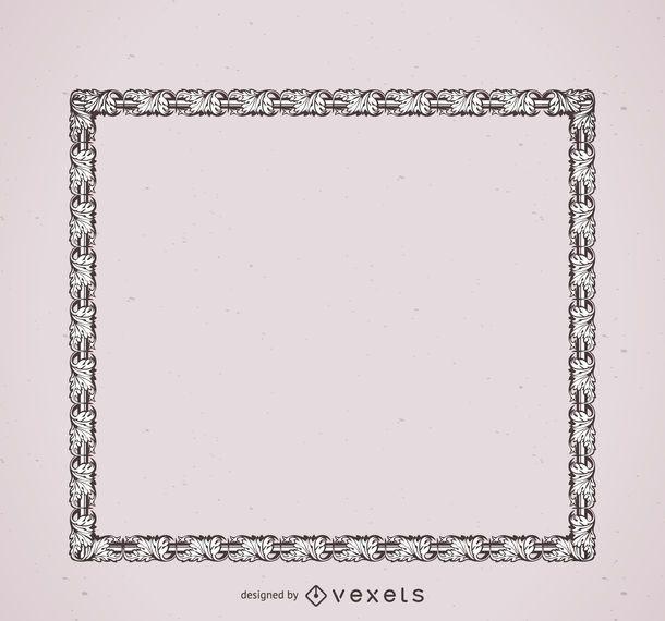 Lässt Ornamentrahmen
