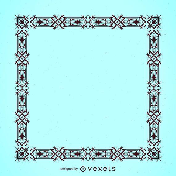 Eleganter detaillierter Rahmen
