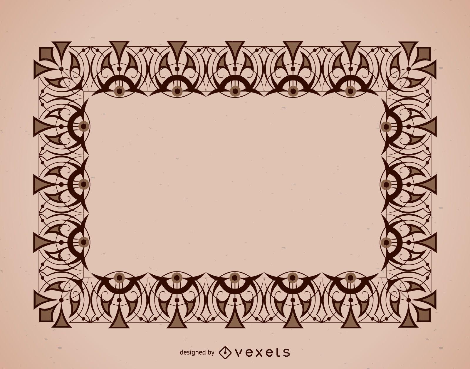 Detailed ornaments frame
