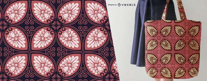 Elegante, folhas, padrão