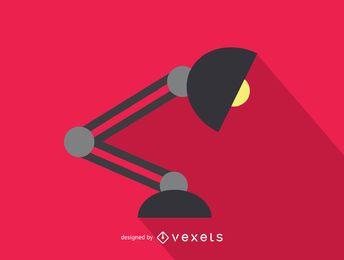 Ícone de lâmpada de mesa de escritório