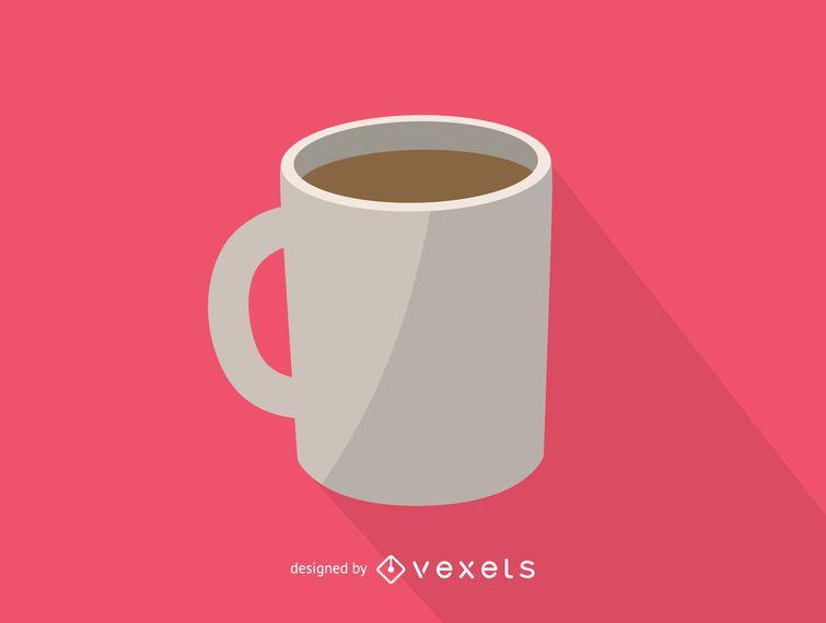 Weiße Kaffeetasse-Symbol