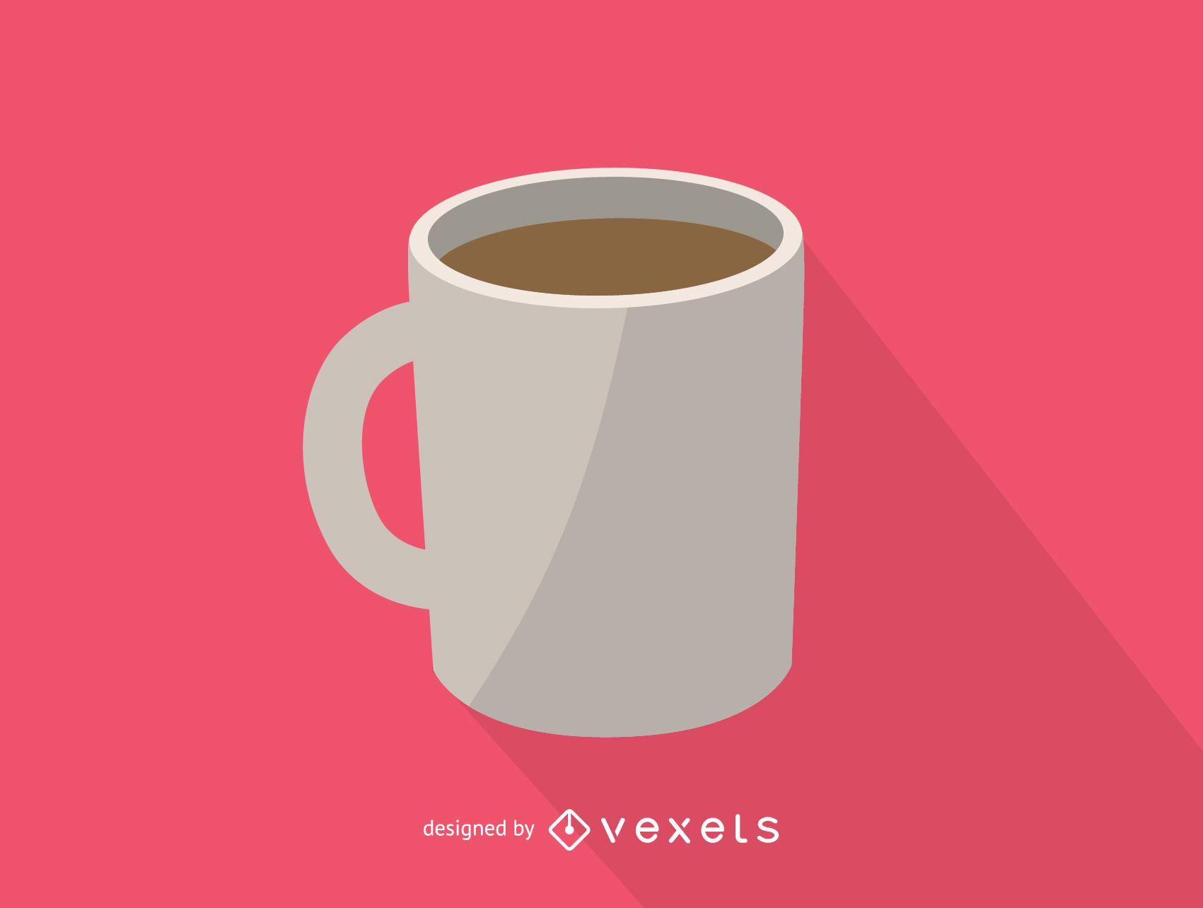 White coffee mug icon