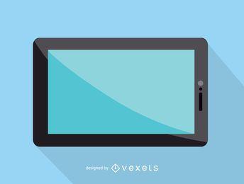 Ícono de tableta con pantalla táctil
