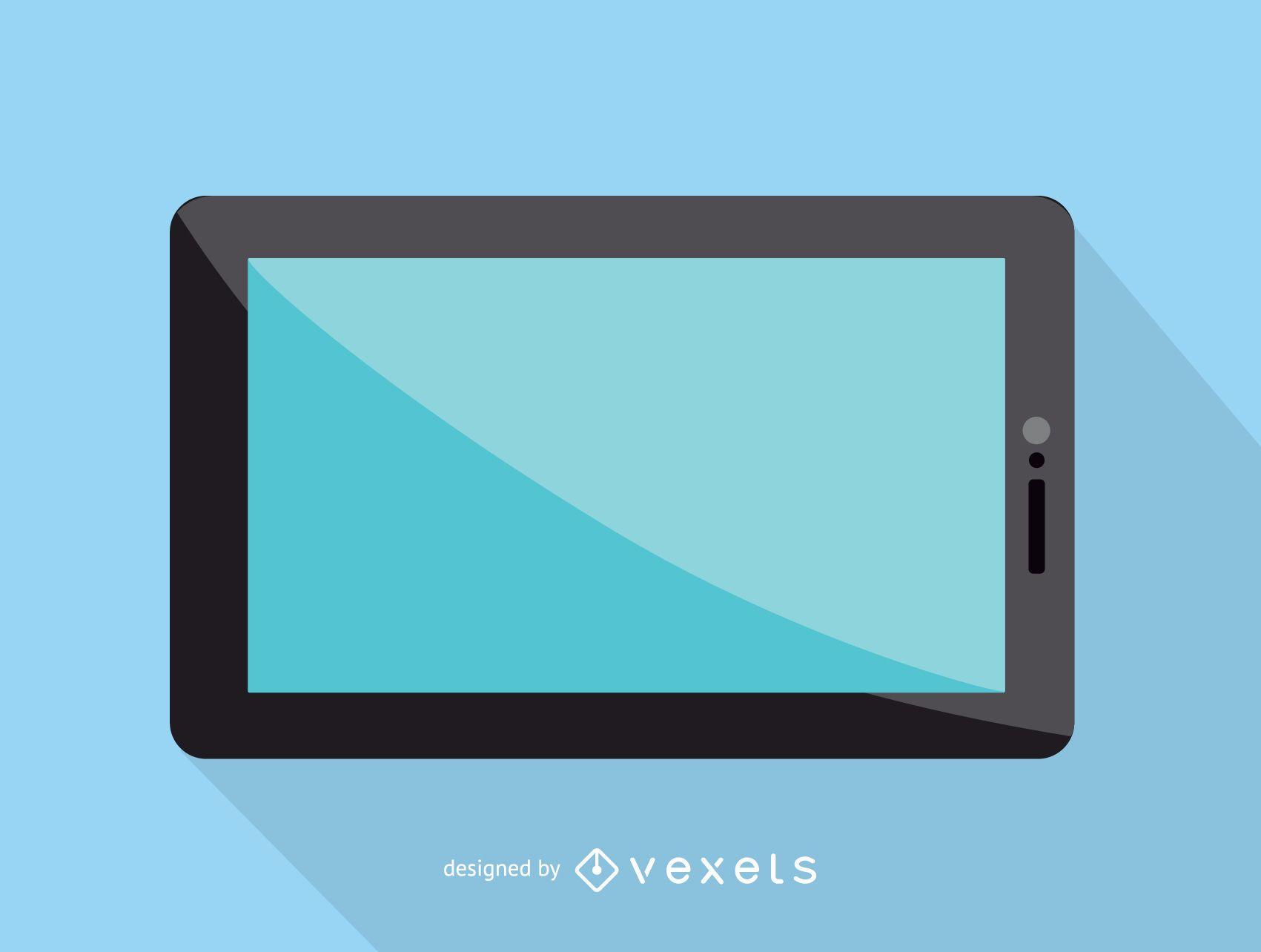 Icono de pantalla táctil de tableta