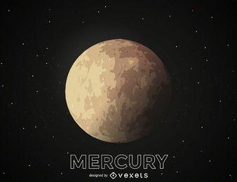 Ilustración planeta mercurio