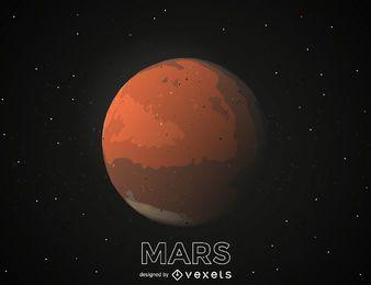 Ilustração do planeta Marte