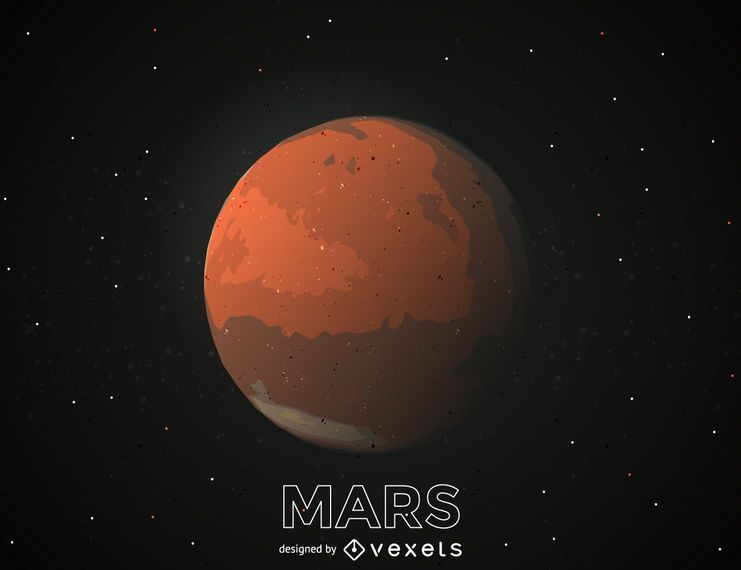 Ilustración planeta marte