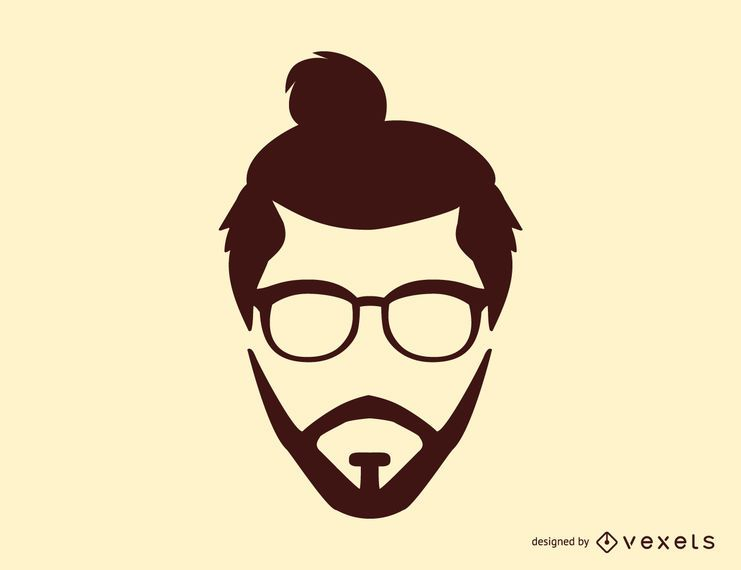 Man Bun Hairstyle Silhouette Vector Download