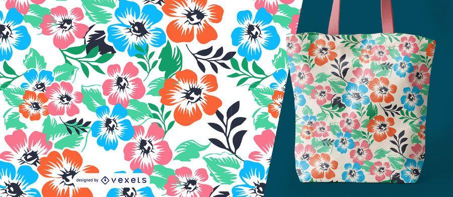 Saco de padrão de flores da primavera