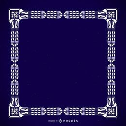 Quadro ornamental maciço detalhado