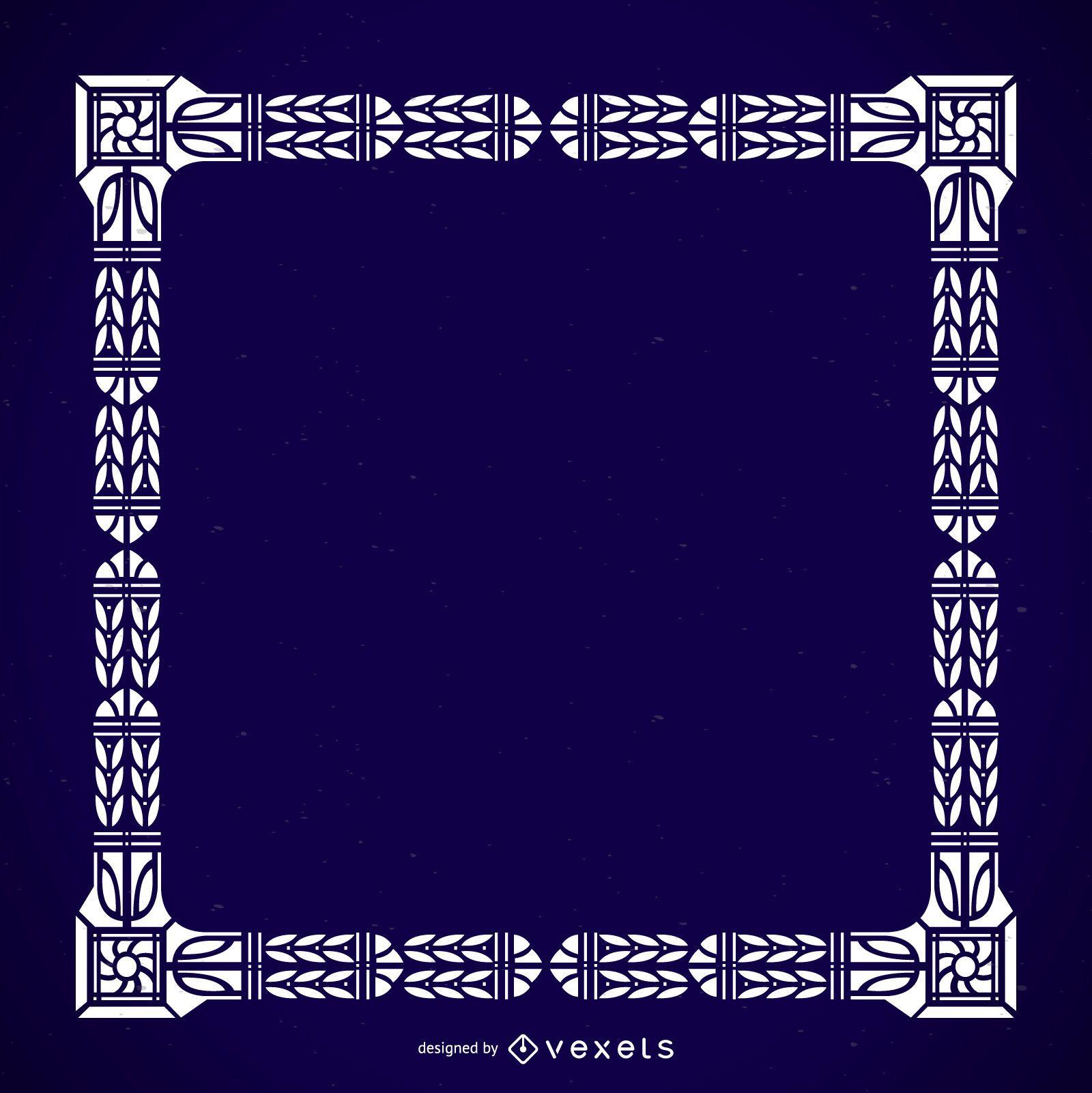Detailed massive ornamental frame