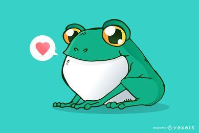 Ilustración de dibujos animados lindo rana