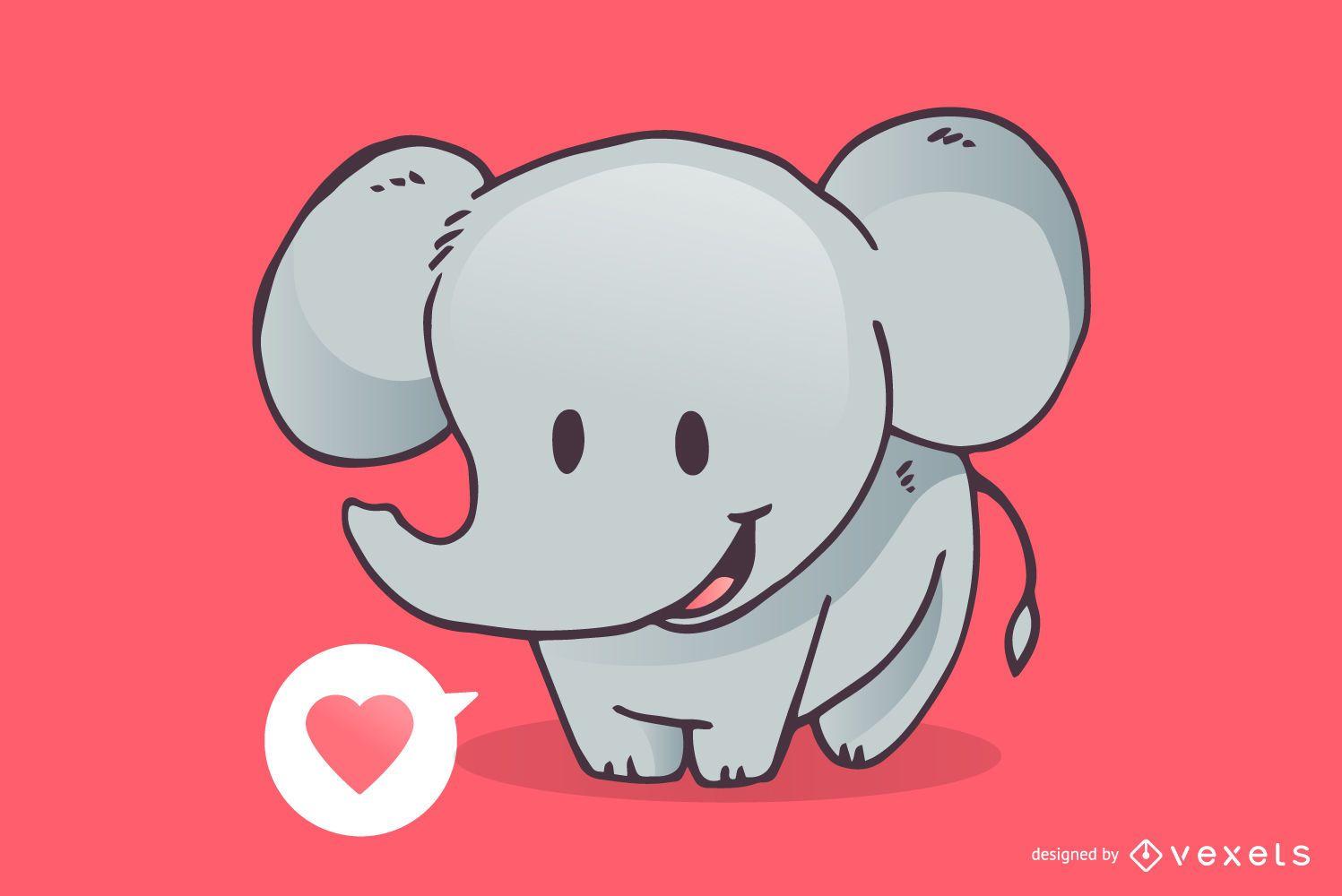 cute elephant love cartoon vector download vector logos of the world vector logos free