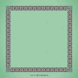 Eleganter Rahmen mit floralen Ornamenten