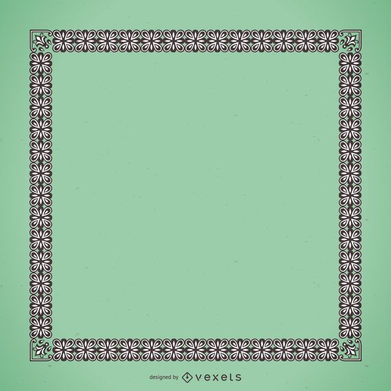Elegant frame with floral ornaments