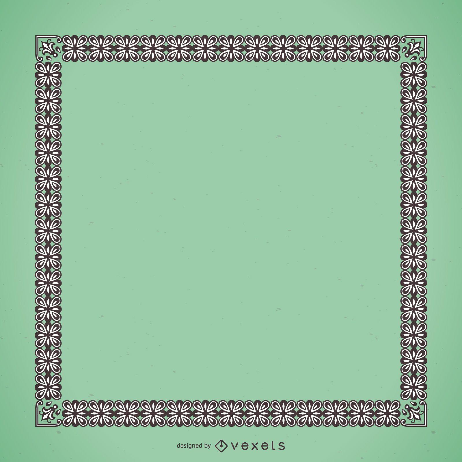 Elegant frame with floral ornaments