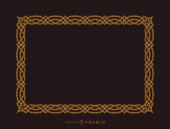 Elegant encrusted frame