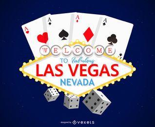 Las Vegas Glücksspiel Logo Design