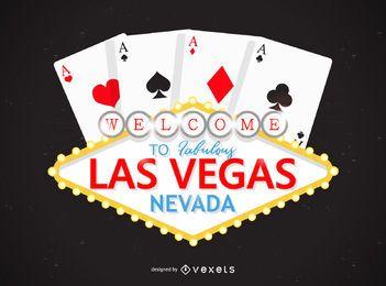 Design do logotipo do cassino em Las Vegas