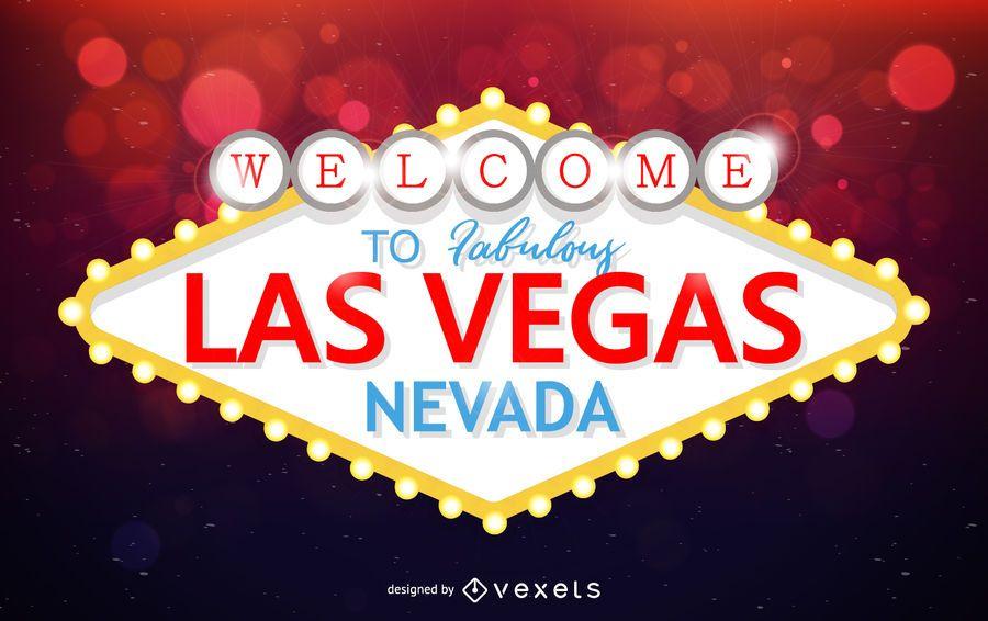 Las Vegas Zeichen Wahrzeichen Design