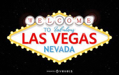 Sinal fabuloso de Las Vegas