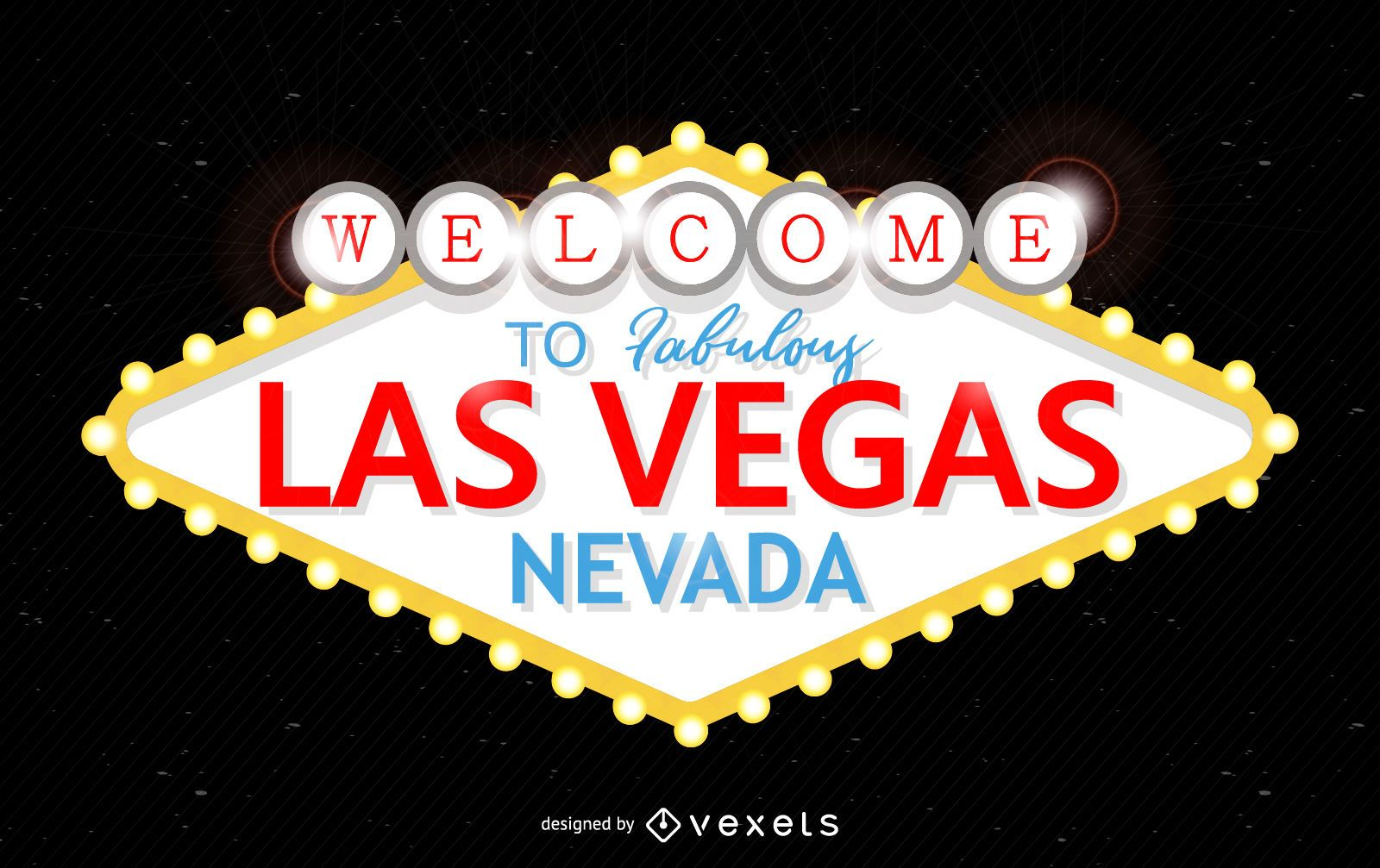 Signo fabuloso de Las Vegas