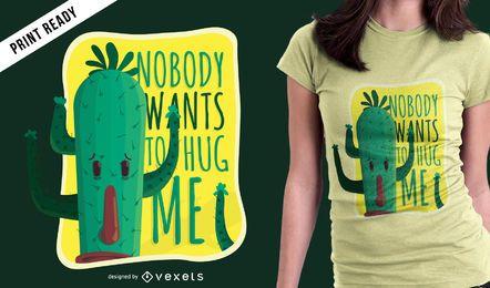 Diseño divertido de camiseta de cactus