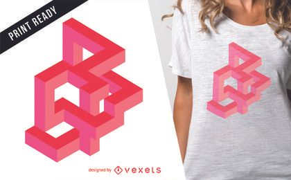 Pink optical illusion t-shirt design